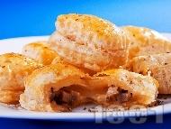 Равиоли от бутер тесто с гъби и моцарела